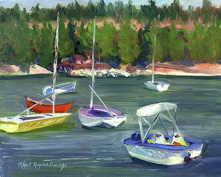 Boats at Pinecrest Lake by Rhett Regina Owings