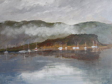 Boats at Slumbay by Cindie Reiter