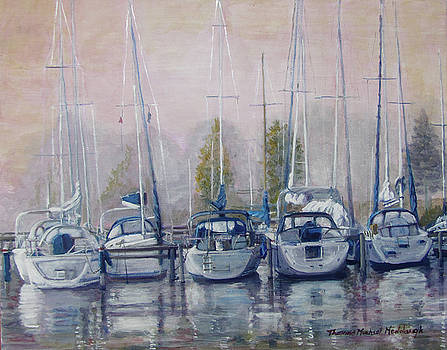 Boats in a Row by Thomas Michael Meddaugh