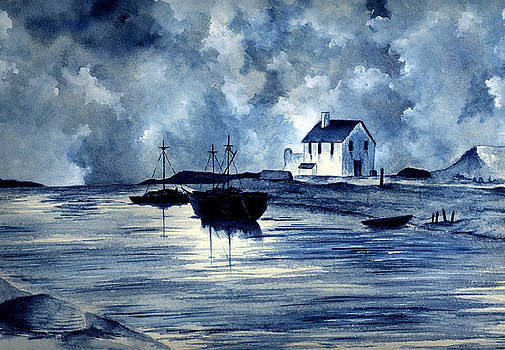Boats in Blue by Michael Vigliotti