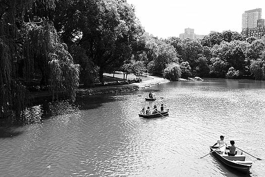 Boats in Central Park's Turtle Pond by Lars Lentz