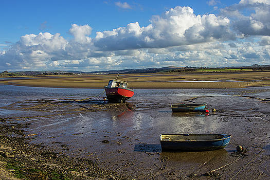 Boats in the Estuary by Richard Marks