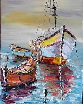 ''Boats in the sea'' by Asia Dzhibirova