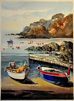 Boats of Calella Spain by Robert W Cook