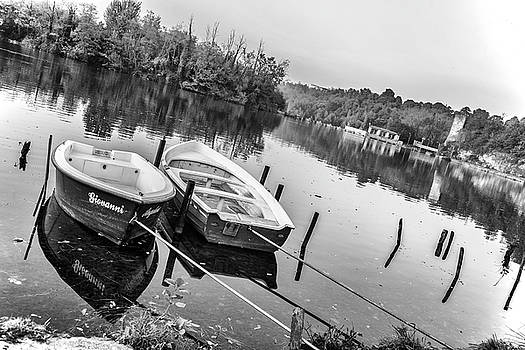 Boats on a River by Fabio Belloni