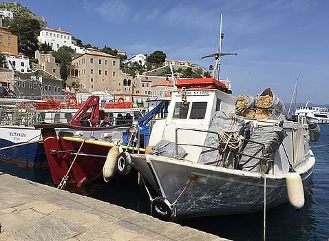 Leslie Brashear - Boats on Hydra