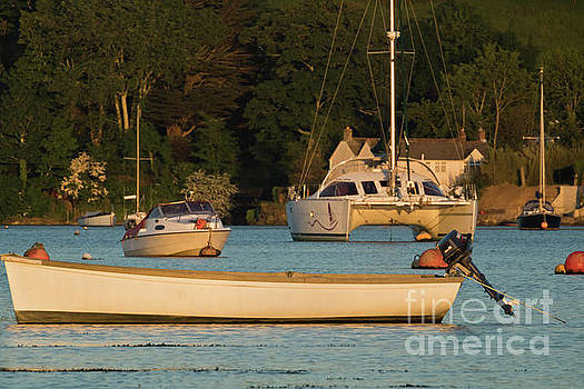 Boats on Mylor Creek by Terri Waters