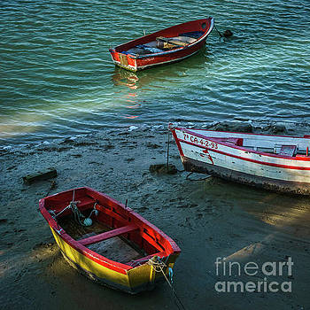Boats on San Pedro River Puerto Real Spain by Pablo Avanzini