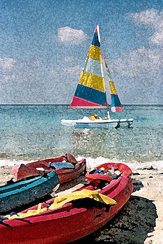 Donna Corless - Boats on the Cay