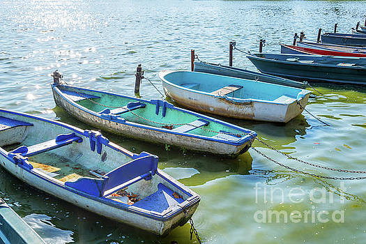 Delphimages Photo Creations - Boats on the lake of Enghien