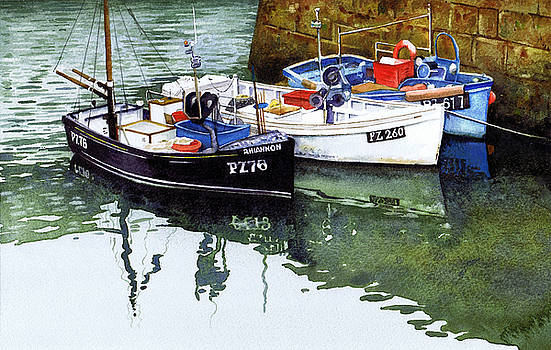Boats Porthleven Harbour by Paul Dene Marlor
