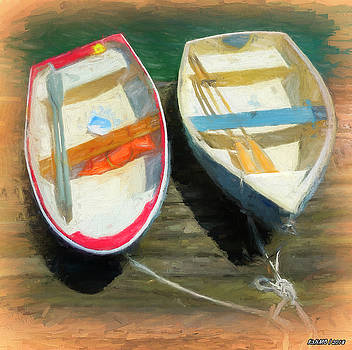 Boats Tied on the Landing by Ken Morris