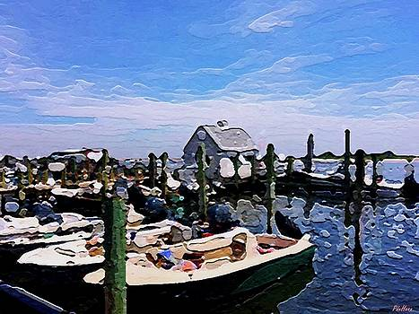 Boats Waiting by Peggy De Haan