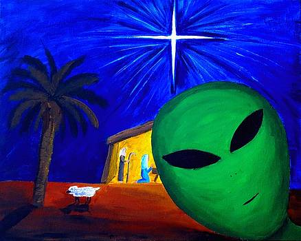 Bob at the Manger by Lola Connelly