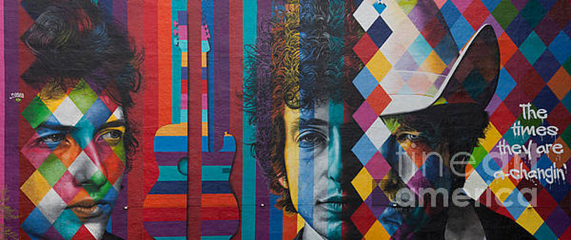 Wayne Moran - Bob Dylan Mural Minneapolis The Times They Are A Changin