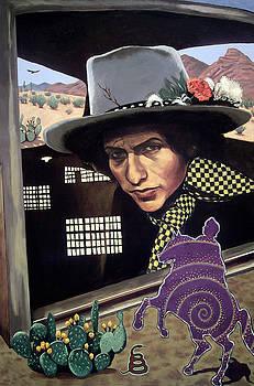 Bob Dylan surreal desert by Rodger Ferris
