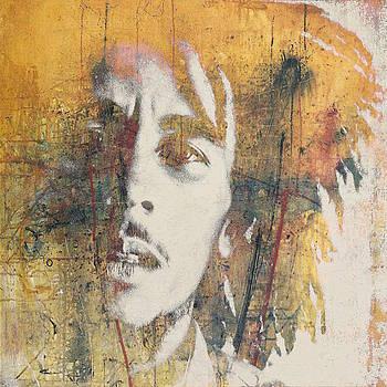 Bob Marley Art - Portrait Size  by Paul Lovering