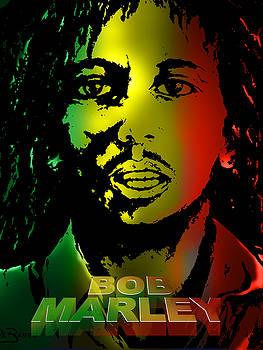 Bob Marley Print by Lloyd DeBerry