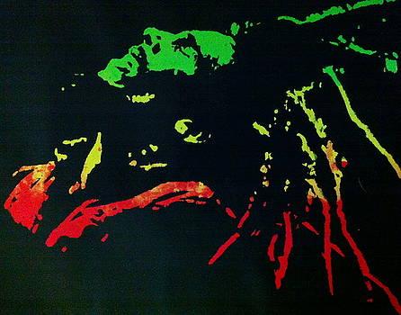 Bob Marley Skankin by Siobhan Bevans