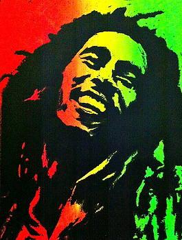 Bob Marley Smile by Siobhan Bevans
