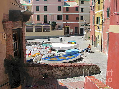 Boccadasse-  Genoa- Harbor by Italian Art