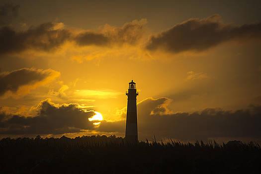 Bodie Island Lighthouse at Sunset by Cassandra NightThunder