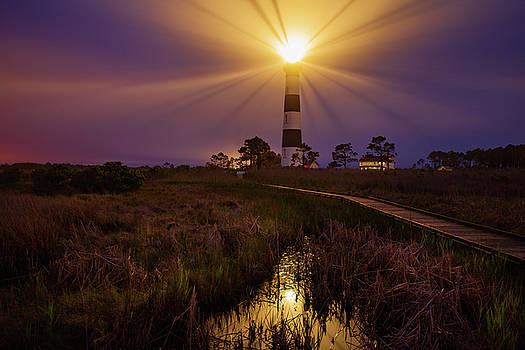 Bodie Island Lighthouse  by Dennis Sprinkle
