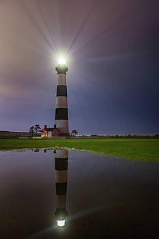 Bodie Island Lighthouse Reflection by Dennis Sprinkle