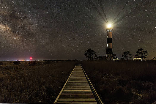 Bodie Island Lighthouse under the stars by Nick Noble