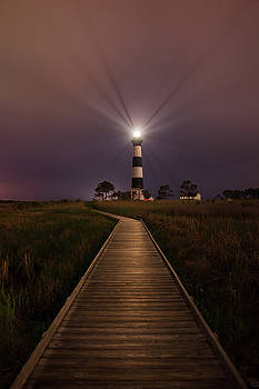 Bodie Lighthouse  by Dennis Sprinkle
