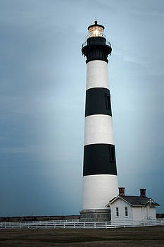 Bodie's Light house Outer Banks North Carolina by Keith Bowen