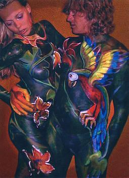 Body Paint Parrot by Michael Rutland