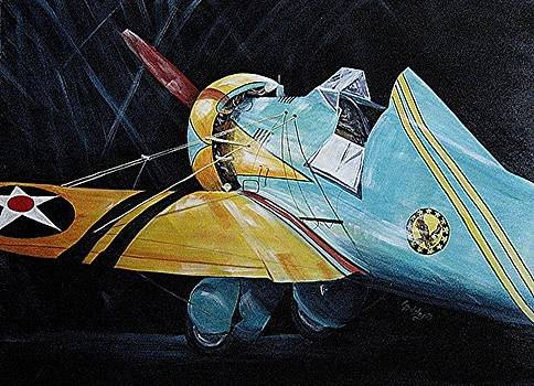 Boeing P26A Peashooter by Elaine Balsley