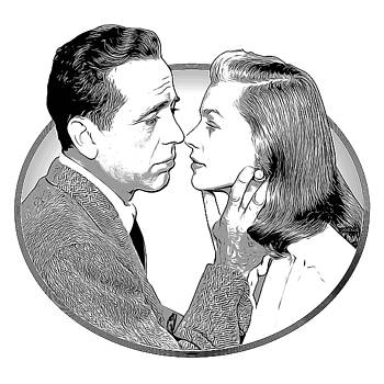 Bogie and Bacall by Greg Joens