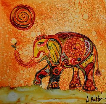 Boho elephant by Andrea Patton