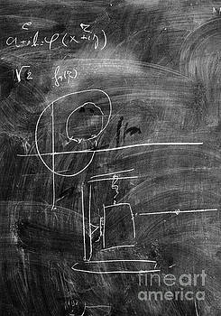 Bohr's last blackboard drawing by Science Photo Library