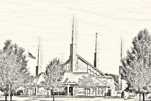 Boise Temple Sketch by Misty Alger
