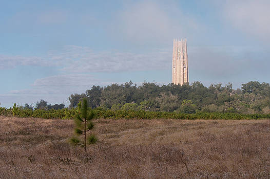 Paul Rebmann - Bok Tower in Clouds