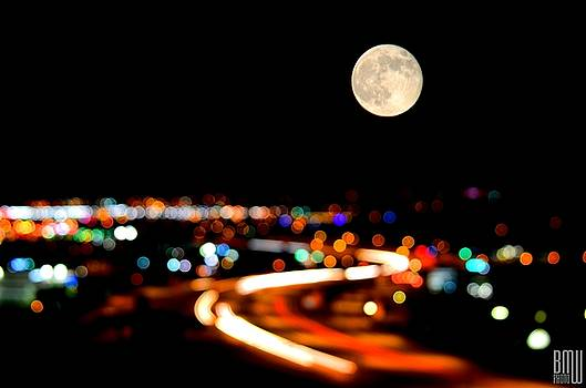 Bokeh Supermoon by Benjamin Weilert