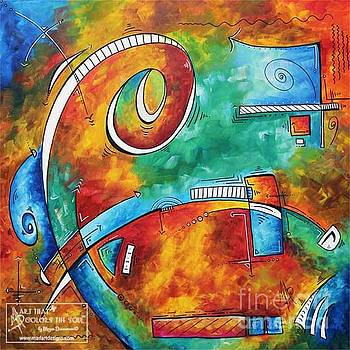 Bold Colorful Abstract PoP Art Original Contemporary Painting by Megan Duncanson Fire and Ice by Megan Duncanson