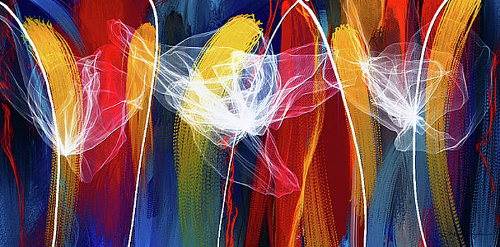 Bold Colors Modern Abstract Art by Lourry Legarde