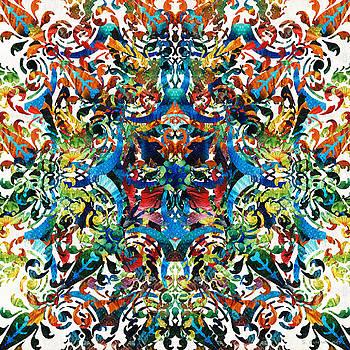 Sharon Cummings - Bold Pattern Art - Color Fusion Design 8 By Sharon Cummings