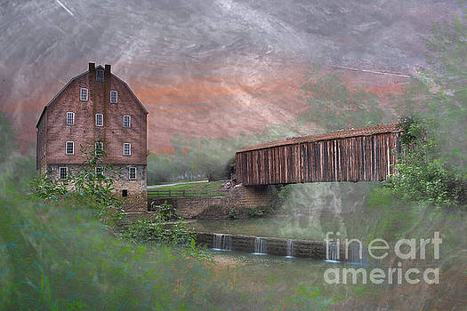 Larry Braun - Bollinger Mill With Texture