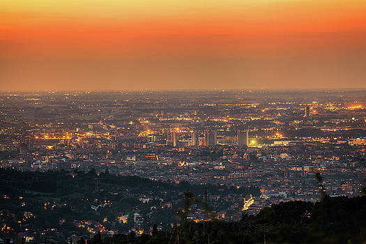 Bologna at night by Cristian Mihaila
