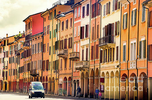 Bologna window balcony texture colorful italy buildings by Luca Lorenzelli