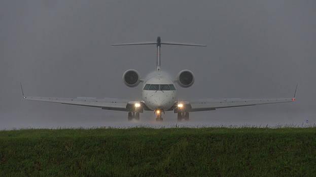 Bombardier In Heavy Rain by Guy Whiteley