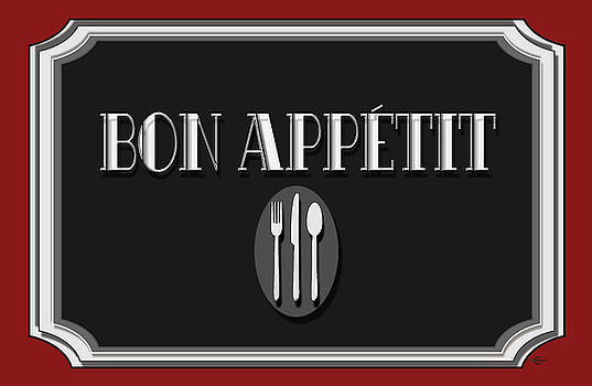 Bon Appetit Art Deco Style Sign by Cecely Bloom