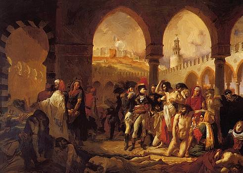 Bonaparte Visiting The Plague Victims Of Jaffa 1804 by Gros AntoineJean