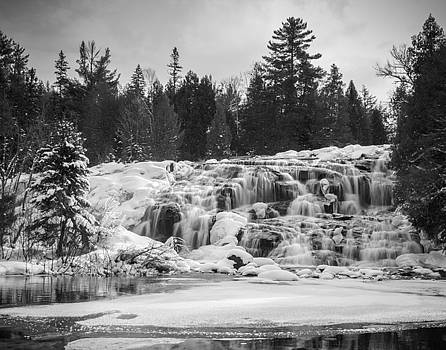 Bond Falls in Black and White by Kimberly Kotzian