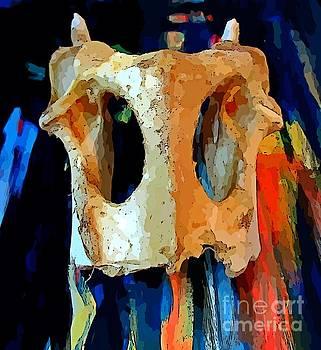 John Malone - Bone and Paint Abstract